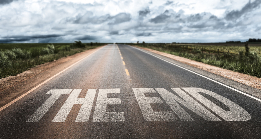 Image of a rural road with the words 'the end', representing the proliferation to the new medium of online video content