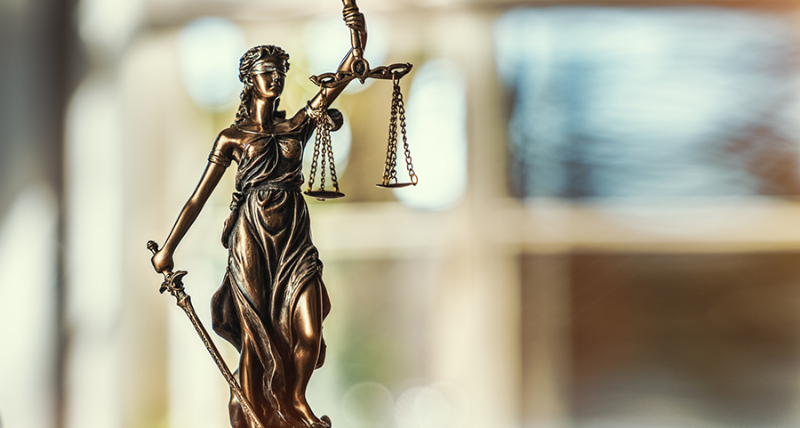 Image of Lady Justice, highlighting that often matters of fraud end up in court